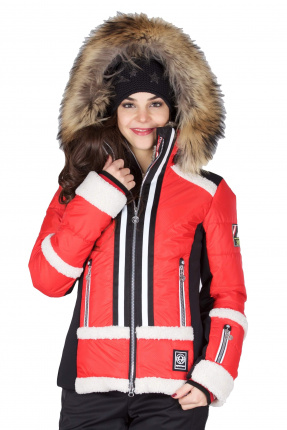 Sportalm Skijacke Schea 902111125  m.Kap.+Pelz Racing Red