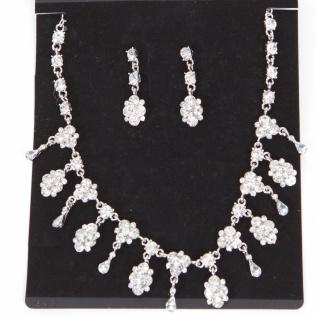 165004 Set Trachtencollier und Ohrhänger in kristall