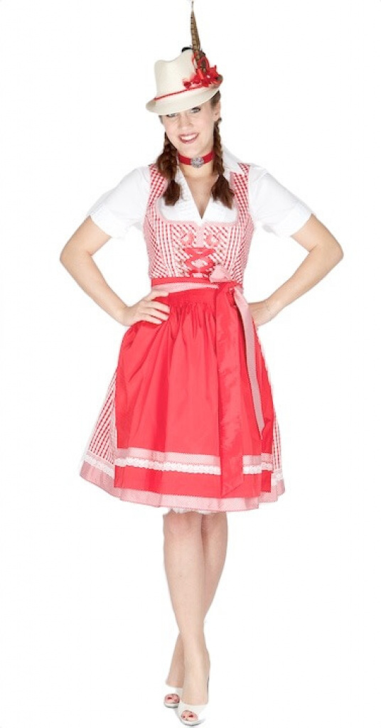10950 country line 60er dirndl gr 30 rot wei dirndl. Black Bedroom Furniture Sets. Home Design Ideas