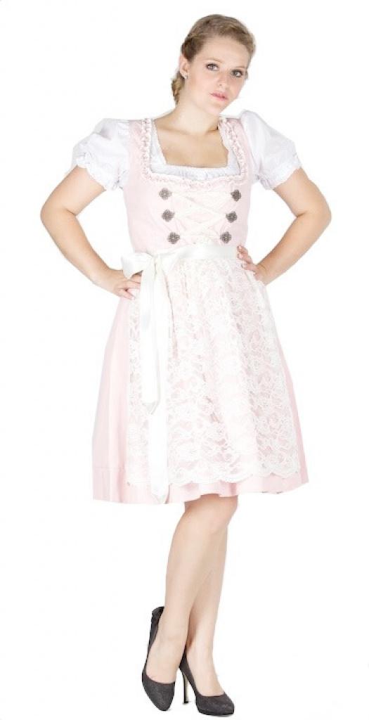 11152 s sses 60er dirndl rosa creme gr 44 dirndl. Black Bedroom Furniture Sets. Home Design Ideas