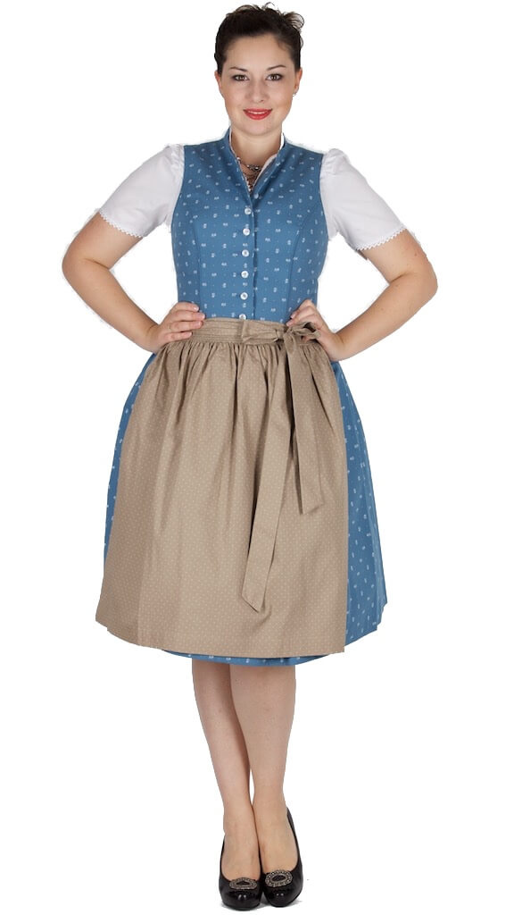 14660 wenger dirndl henriette 65er blau beige stehkragen dirndl trachten outlet. Black Bedroom Furniture Sets. Home Design Ideas