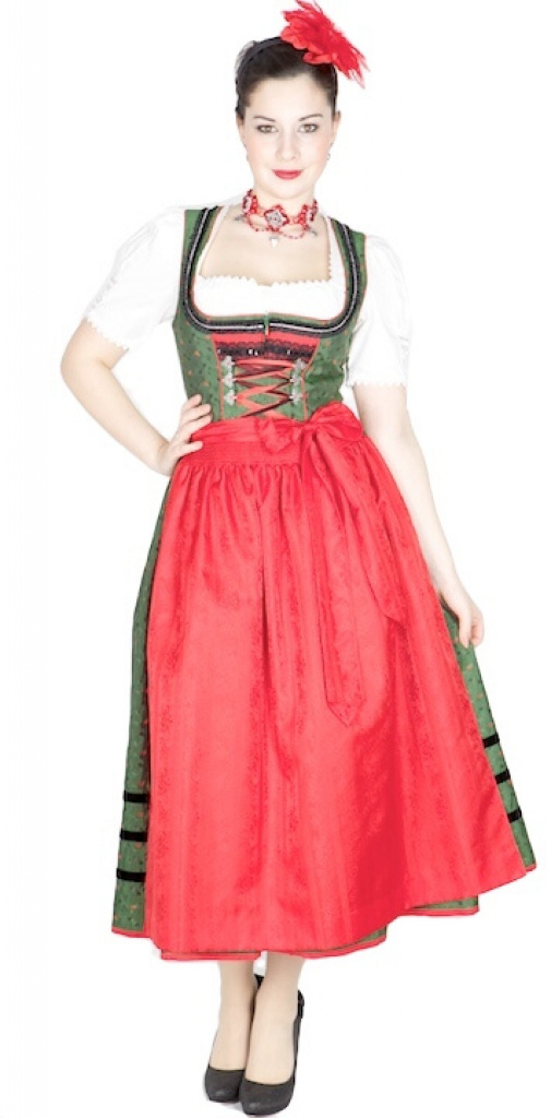 10226 kr ger manufaktur dirndl 85er gr n rot dirndl. Black Bedroom Furniture Sets. Home Design Ideas