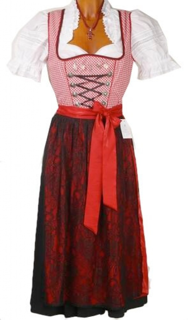 1875 spieth wensky midi 70er dirndl gr 32 rot weiss karo. Black Bedroom Furniture Sets. Home Design Ideas