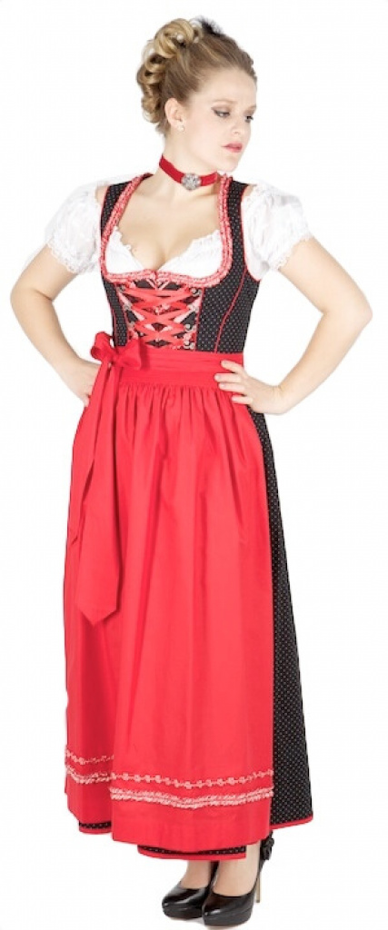 8888 kr ger 95er dirndl schwarz rot dirndl trachten outlet. Black Bedroom Furniture Sets. Home Design Ideas