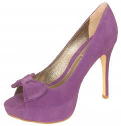 10559 Peep Toe Plateau Pump purpel