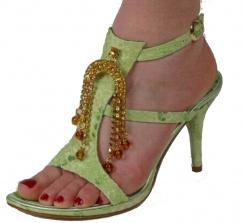 1993 Design Damen Sandalette Leder Pistazie