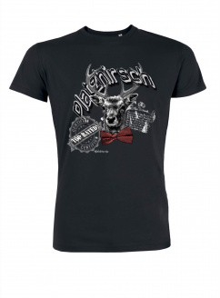 Mister Edelweiss Herren T-Shirt 21414 Platzhirsch Schwarz