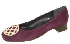 344326 John Grey Leder Pump violett