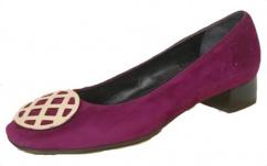 344356 John Grey Leder Pump pink
