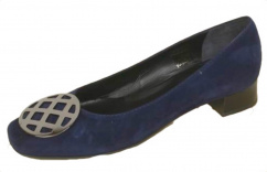 344831 John Grey Leder Pump blau