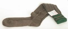 L8995R-1119 Trachten Kniebundstrümpfe braun tanne