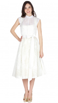 Alissa by Kinga Mathe Brautdirndl Mary 16884 70er Ivory
