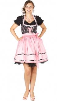 15049 Bergweiss 50er Dirndl schwarz pink
