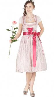 14250 Bergweiss 70er Dirndl altrosa pink
