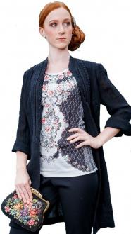 Gaisberger Couture T-shirt Mainau 0111 S1069 schwarz beige