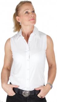 Gaisberger Couture Damenbluse 0106 weiß ärmellos
