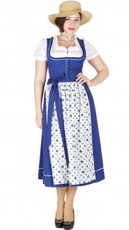 14489  Hofer Dirndl Siegen 80er royalblau