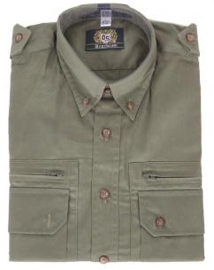 Orbis Jagdhemd 100002-0745/56 trachtengrün uni