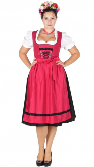 3358 Taft Dirndl pink 70er Herzsee