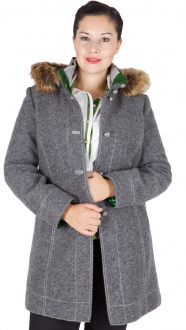 5142F Kaiseralm Damen Outdoormantel Michi grau 92