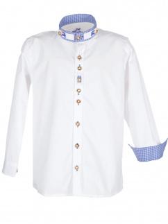 Orbis Kinderhemd 480001 3565/01 weiss blau Stehkragen