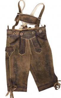 Rotwand-Kid Antik Stein Kinder Kniebund Lederhose