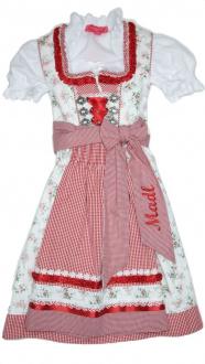 43481 Krüger Kinderdirndl mit Bluse ecru rot