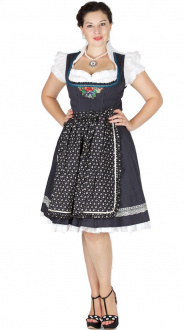 15175 Lola Paltinger Dirndl Clara 60er Nadelstreifen schwarz
