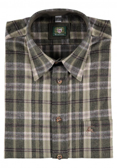 Orbis Herrenhemd 420000-2821/55 oliv flanell regular fit