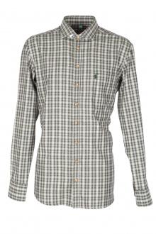 Orbis Herrenhemd 420000-3777/57 dunkelgrün slim fit