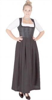 13134 Stoiber Gastro Waschdirndl schwarz 95er länge