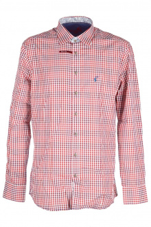 Orbis Herrenhemd 420000-3582/35 weinrot Slim fit
