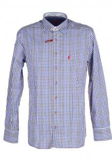 Orbis Herrenhemd 420000-3582/45 marine Slim fit
