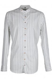 Orbis Herrenhemd 420000-3756/56 trachtengrün weiss Body fit