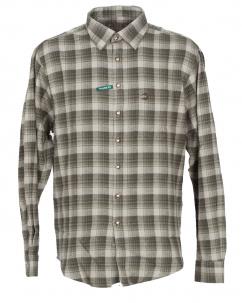 Orbis Herrenhemd 420000-3576/55 oliv flanell regular fit