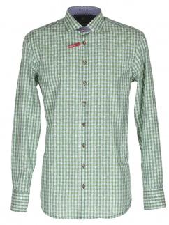 Orbis Herrenhemd 420000-3521/51 grün Slim fit