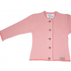 AS 216760 Alpenstrick Kinderstrickjacke flamingo rosa
