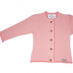 AS 216760 Alpenstrick Kinderstrickjacke flamingo rosa