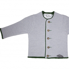 AS 216759 Alpenstrick Kinderstrickjacke grau efeu
