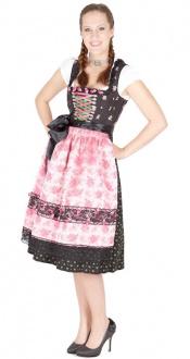 11481 Tramontana 70er Dirndl schwarz pink