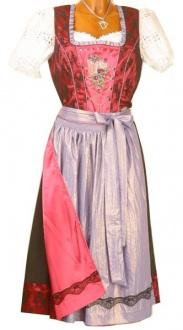 2680 Spieth & Wensky Dirndl 70er pink lila
