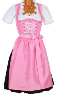 2985 Taft Dirndl Zellersee Gr 32 neon pink 60er