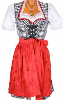 2995 Country Line 50er mini Dirndl schwarz rot