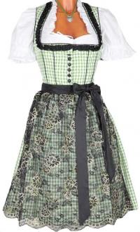 3392 Kaiserjäger Dirndl Lydia 60er grün schwarz