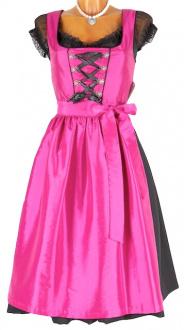 4120 apartes Taft Dirndl pink 70er Bodensee