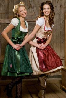 5145 Fräulein Trentini Dirndl Heid rosa creme
