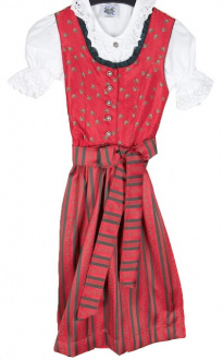 64341 süsses Kinderdirndl in rot mit Bluse