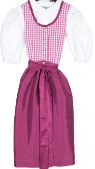 5454 Kaiser Franz Josef Kinderdirndl Lucy  Gr 86 pink karo mit Bluse