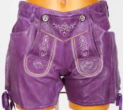 Reserl Damen Hotpant Leder Zanzara lila