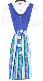 64411 Süsses Kinderdirndl in blau mit Bluse